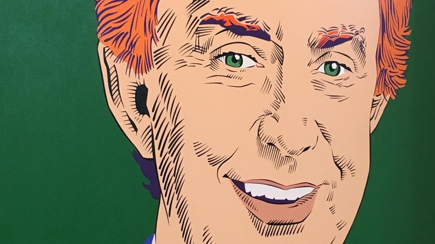 Portrait de Joe Clark aux cheveux roux