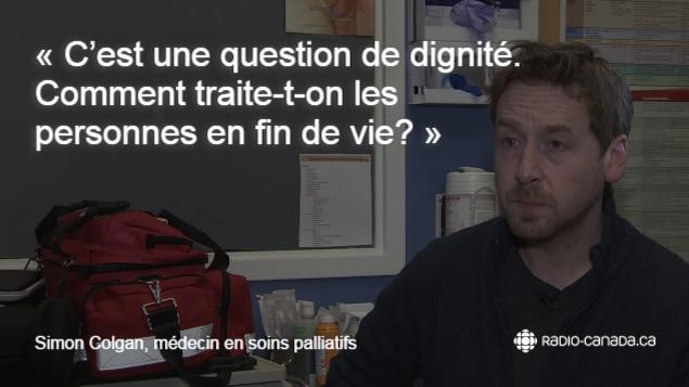 Simon Colgan: «C'est une question de dignité. Comment traite-t-on les personnes en fin de vie.»