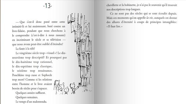 Le roman de Daniel Pennac, Comme un roman, illustré par Quentin Blake.