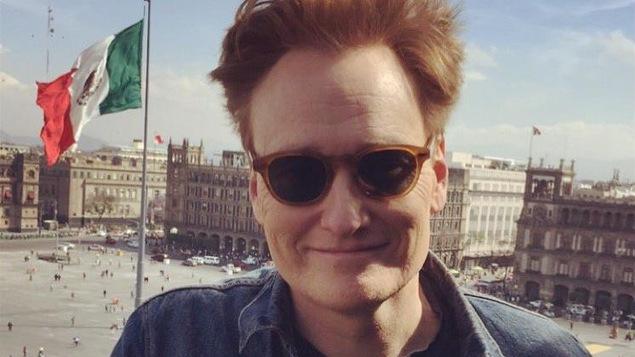 L'animateur Conan O'Brien à la Place de la Constitution à Mexico