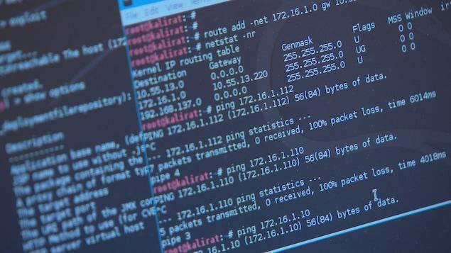 Un écran d'ordinateur montrant des codes informatiques