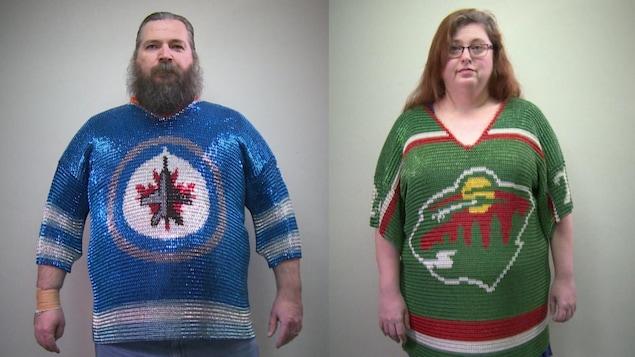 maillots de hockey fait en cottes de mailles