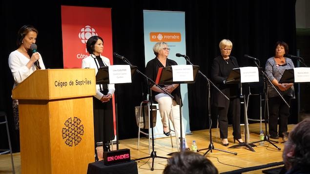 Le débat dans Duplessis entre les quatre candidates des principaux partis