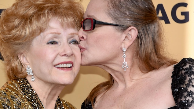 Debbie Reynolds et Carrie Fisher en janvier 2015 au Annual Screen Actors Guild Awards