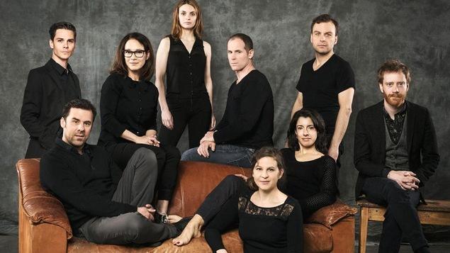 Les acteurs de la pièce « Le déclin de l'empire américain »
