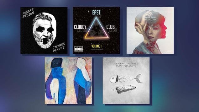 Montage de cinq albums de musique
