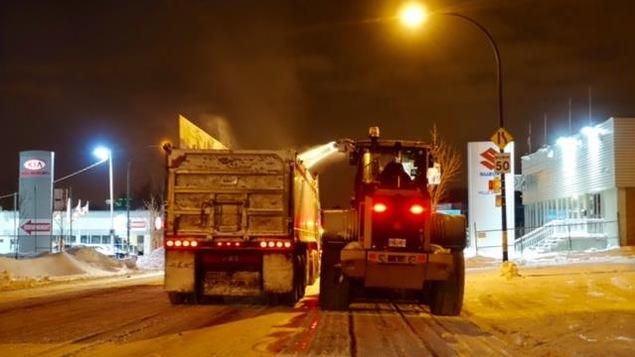 Les opérations de déneigement sont en cours à Montréal.