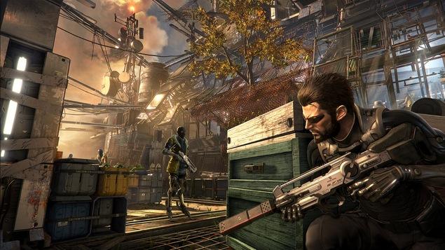 Scène du secteur du village Golem du jeu Deus Ex : Mankind Divided