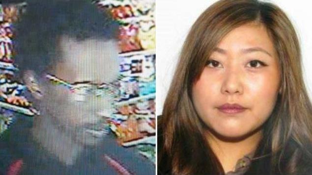 Les enquêteurs recherchent Yu Chieh Liao, à droite sur la photo, aussi connue sous le nom de Diana Liao. Elle devait voyager avec l'homme qui se situe à gauche sur la photo et identifié comme étant Tewodros Mutugeta Kebede et a été arrêté pour d'autres chefs d'accusation à Toronto.