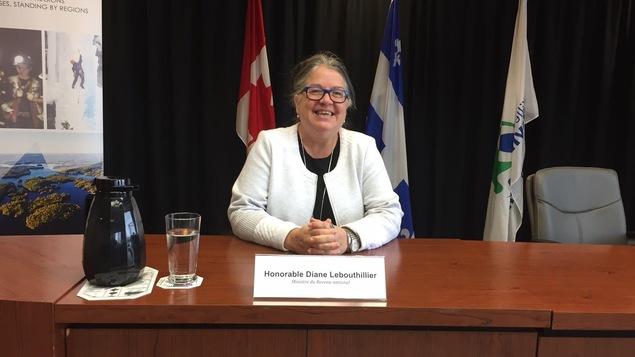 La ministre du Revenu national Diane Lebouthillier, de passage à Rouyn-Noranda