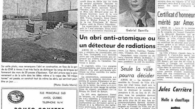 Page frontispice de L'écho d'Amos en 1962.