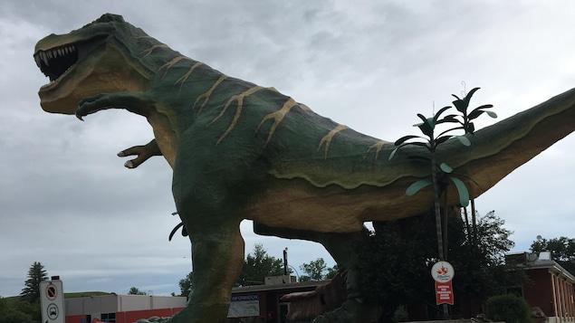 Un dinosaure géant à Drumheller
