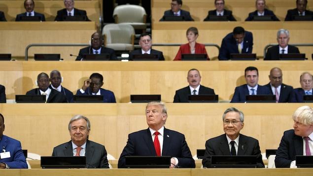 Le président américain Donald Trump lors d'une assemblée au siège de l'ONU, à New York.