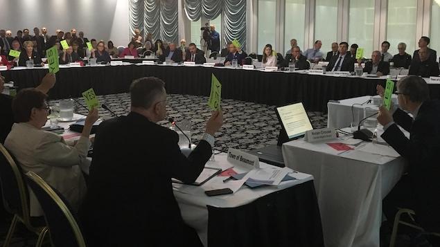 Vote au conseil régional de la capitale qui réunit les maires de la région d'Edmonton