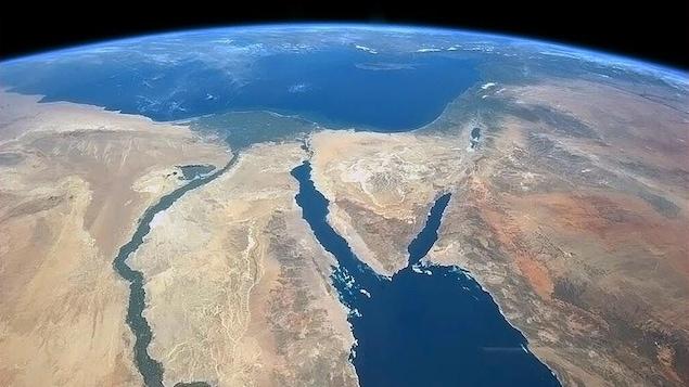 L'Égypte vue de l'espace.