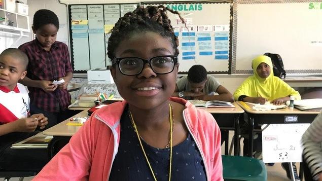 Divine, élève de la 6e année à l'École Précieux-Sang