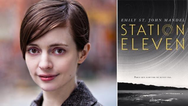 L'auteure Emily St. John Mandel et la couverture de son livre, Station Eleven (Alto)
