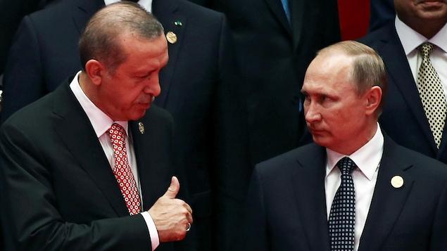 Le présidents turc et russe, Recep Tayyip Erdogan et Vladimir Poutine