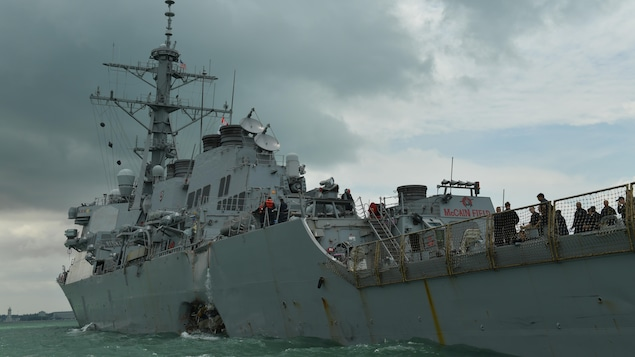 Le destroyer USS John S. McCain