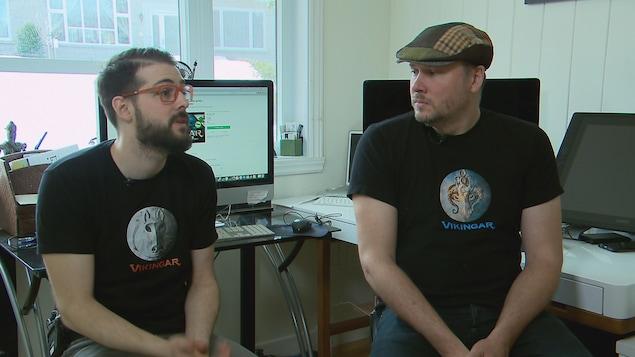 Les concepteurs du jeu, Étienne et Jean-Thomas Rioux.