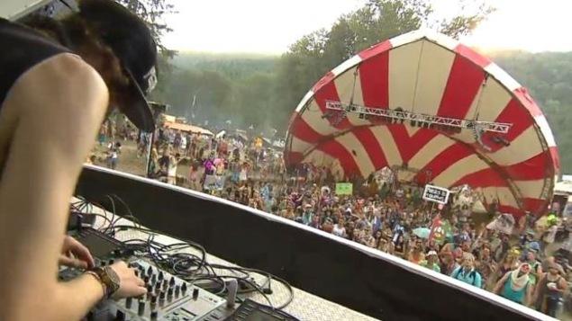 Le festival de musique Shambala près de Salmo dans le sud-est de la Colombie-Britannique.