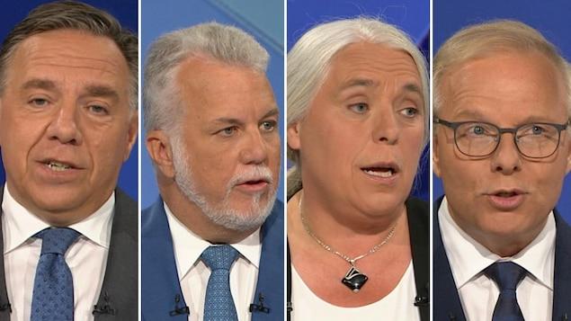 Un montage photo montre les quatre chefs.
