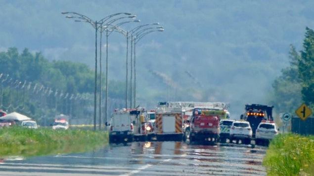 Une fuite de gaz force la fermeture complète de la route 116
