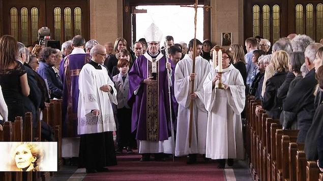 Les funérailles de Janine Sutto, à Montréal