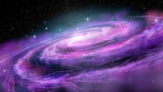 Une galaxie de l'Univers en trois dimensions.