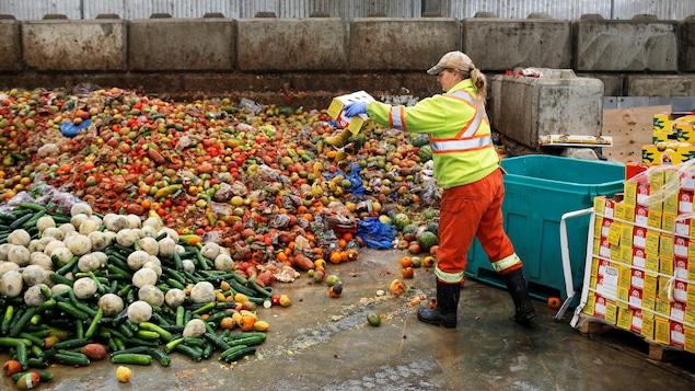 Les fruits et légumes représenteraient près de la moitié des 150 000 tonnes de nourriture gaspillées chaque jours aux États-Unis.