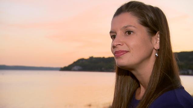 La candidate de la Coalition avenir Québec dans la circonscription de Louis-Hébert, Geneviève Guilbault