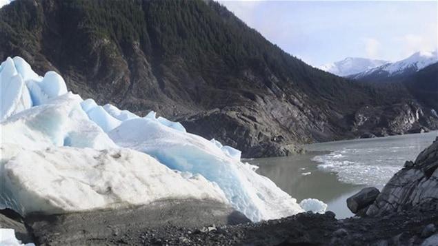 Le champ de glace de l'Alaska qui alimente le glacier Mendenhall.