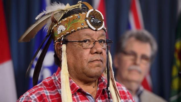 Le grand chef de la Première Nation Anishinabek, Glen Hare