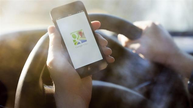 Application Google Maps sur iPhone