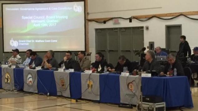Les dirigeants cris réunis à Mistissini pour discuter des projets d'entente de gouvernance et de constitution cries