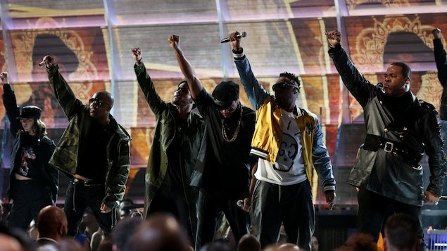 A Tribe Called Quest lors de sa performance « We The People » aux Grammy