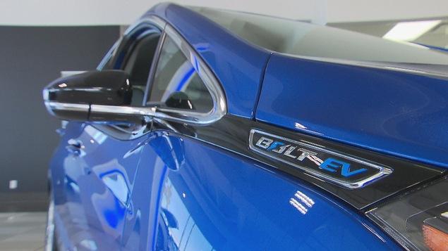 Gros plan d'une Chevrolet Bolt EV
