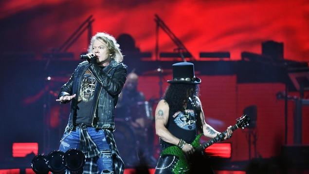Axl Rose et Slash de Guns N' Roses