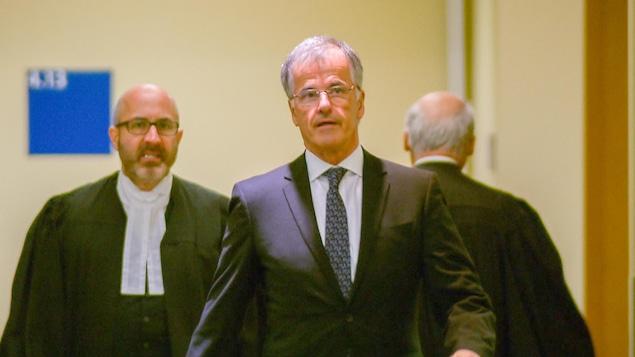 Guy Ouellette a témoigné jeudi au palais de justice de Québec au procès de Nathalie Normandeau et ses coaccusés