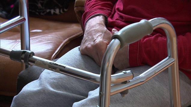 Une personne handicapée