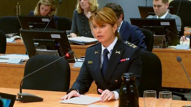 Helen Dion a témoigné devant la commission Chamberland à titre de directrice du Service de police de Repentigny. elle est aussi présidente de l'Association des directeurs de police du Québec.