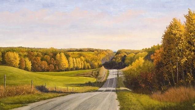Aspen road, de l'artiste peintre Hubert Théroux
