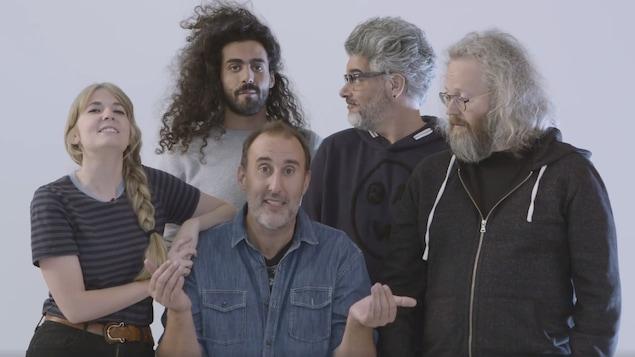 Rosalie Vaillancourt, Adib Alkhalidey, Martin Petit, Réal Béland et François Bellefeuille.