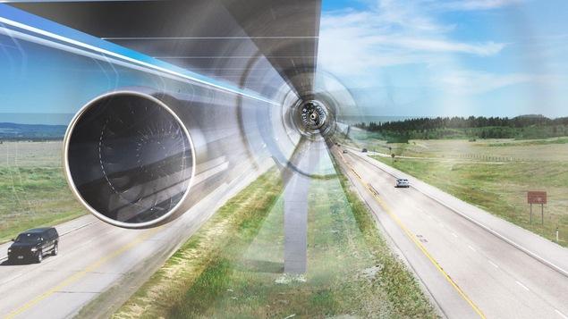 Les capsules de l'Hyperloop voyageraient à une vitesse de plus de 1200 km/h dans des tubes ayant une pression atmosphérique très faible.