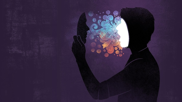 Illustration d'un personnage qui a une illumination après la prise d'un hallucinogène.