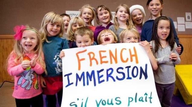 Des élèves en immersion française