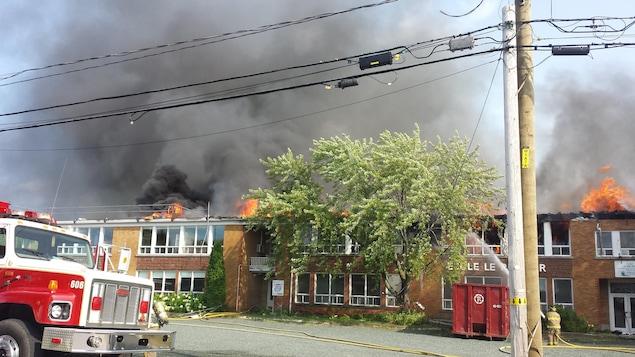 École en feu