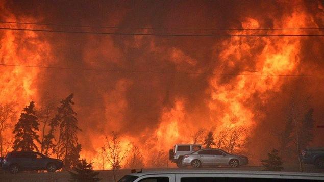 L'incendie qui a ravagé Fort McMurray en mai 2016.