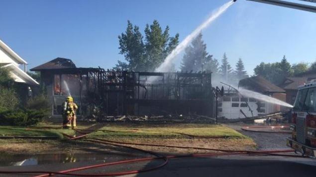 La résidence est une perte totale selon le département d'incendie de Balgonie.