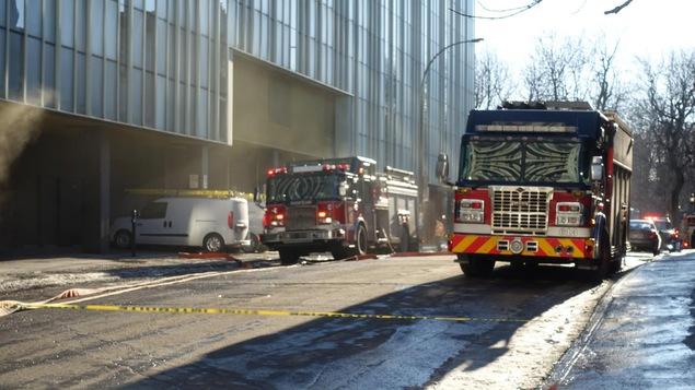 Incendie dans le stationnement sous-terrain de l'ITHQ